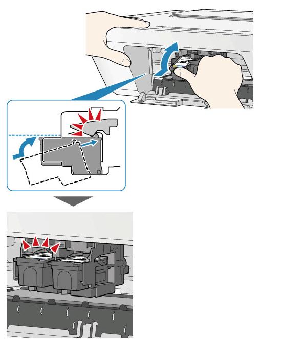 Фиксация картриджа для принтера